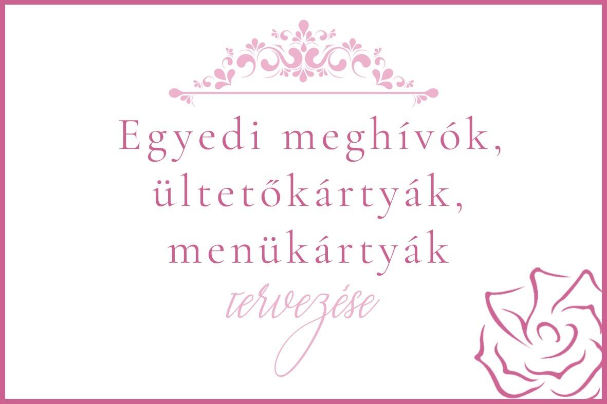 RoseArt Esküvői Meghívó, ültetőkártya, menükártya, ültetési rend szerkesztése, tervezése