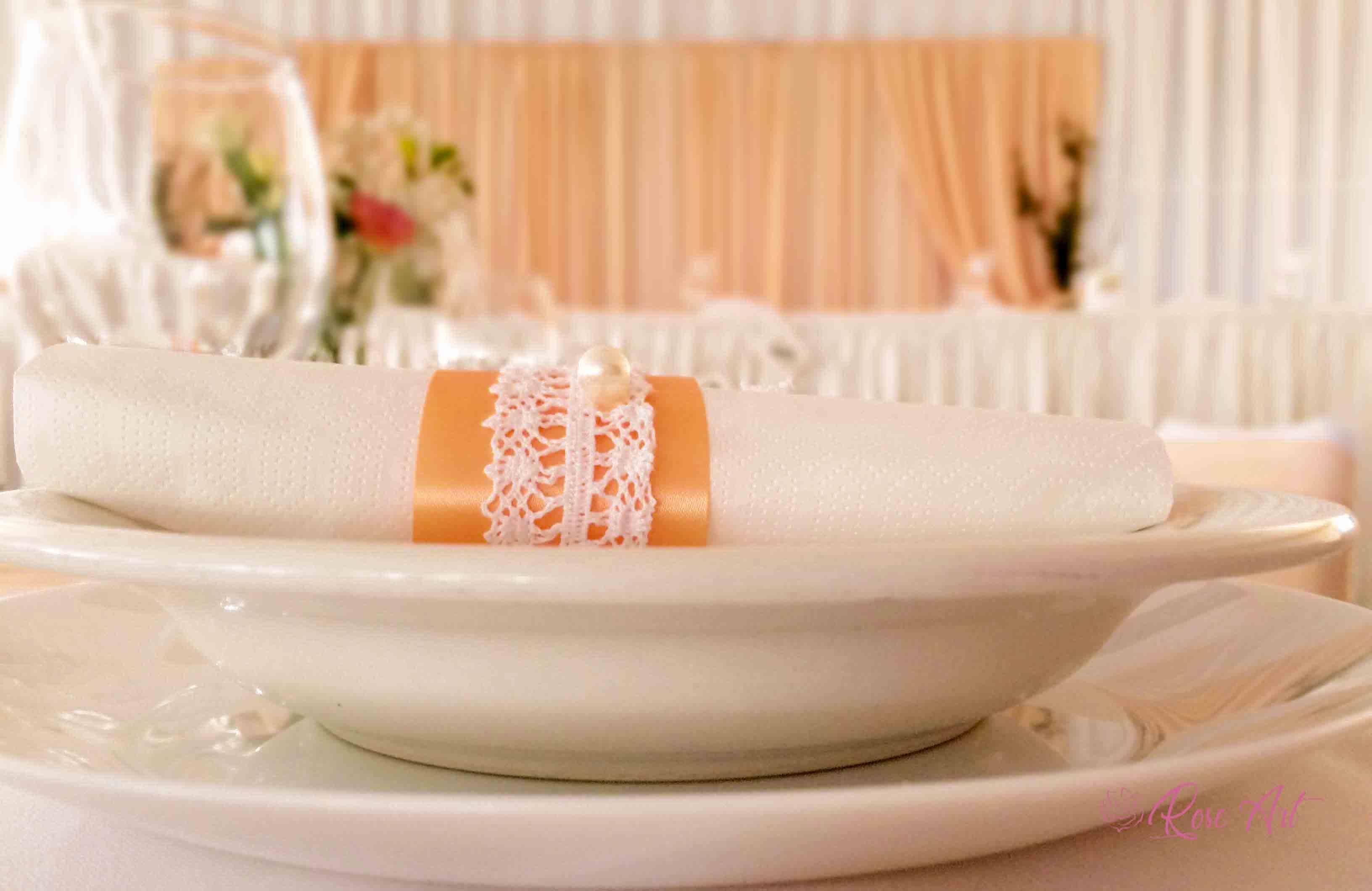 RoseArt Esküvői Kellékek Barack Szalvéta dísz