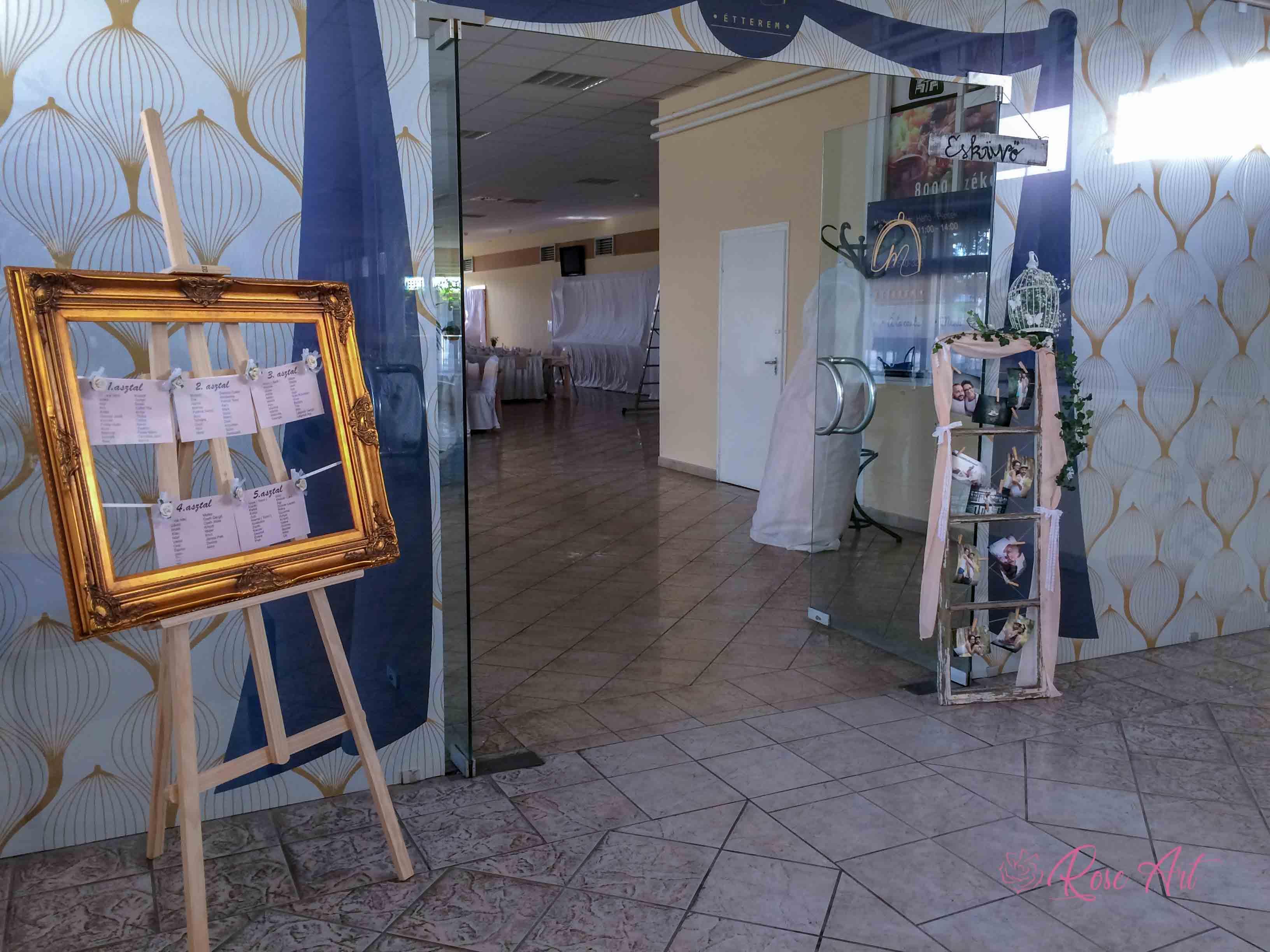 RoseArt Esküvői Kellékek Képkeret Ültetési Rend