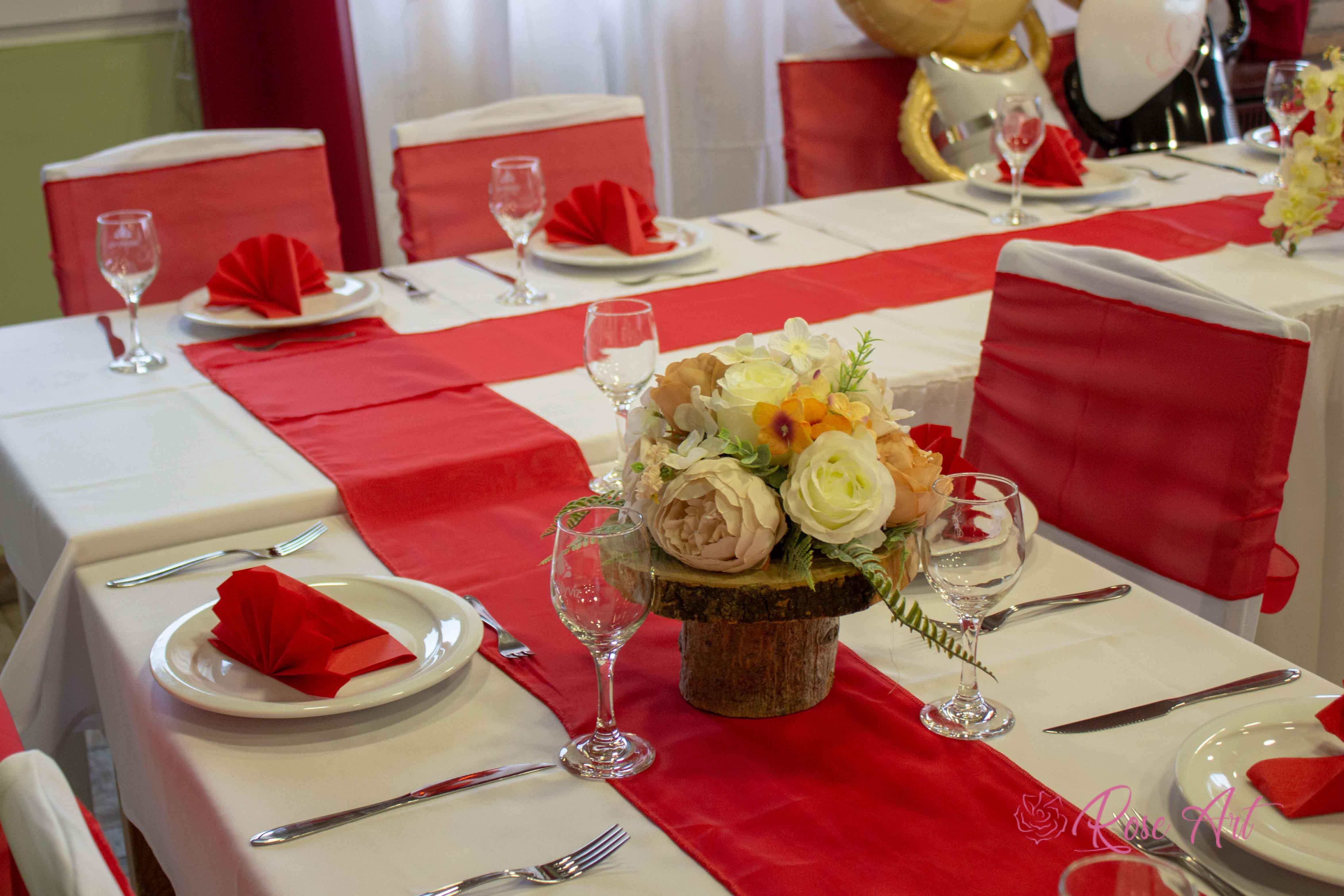 RoseArt Esküvő Klasszikus Piros Masni Székszoknya