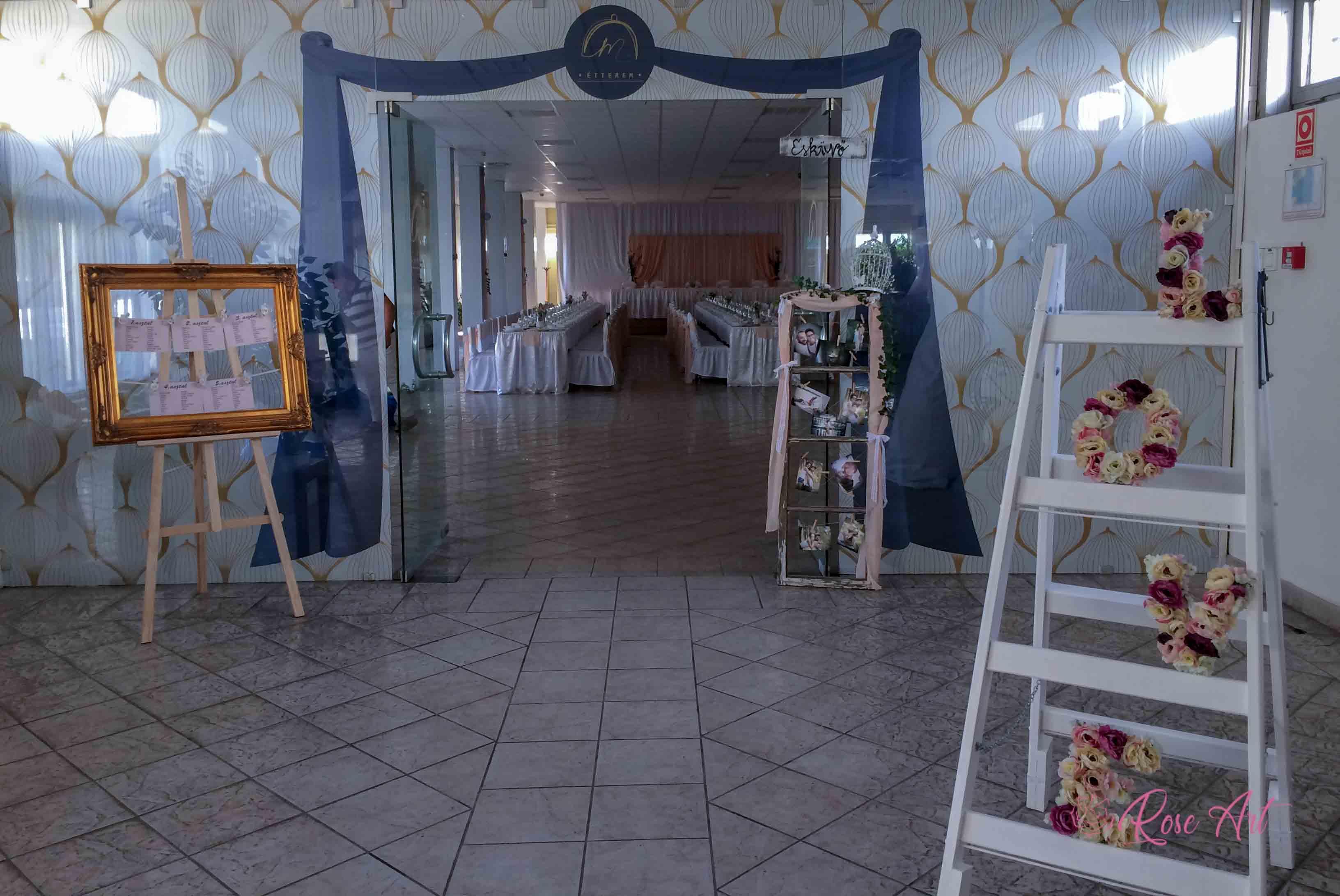 RoseArt Esküvői Kellékek Képkeret Ültetési Rend Létra