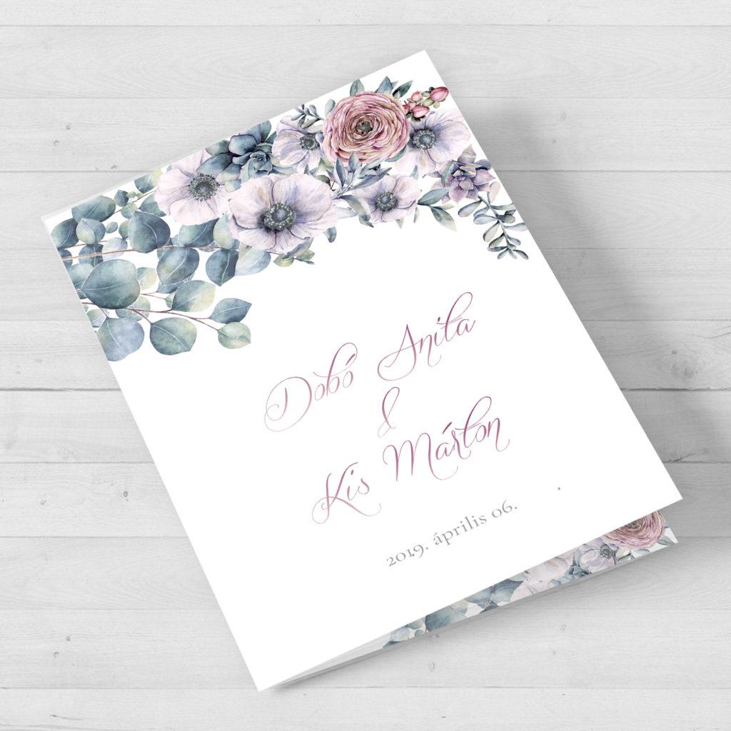 Esküvői Meghívó RoseArt Anita Márton Kinyitható Virág Motívum Főoldal